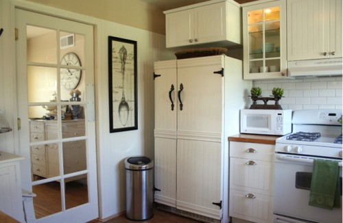 Would you please share the process in refacing the fridge for Swinging kitchen doors residential