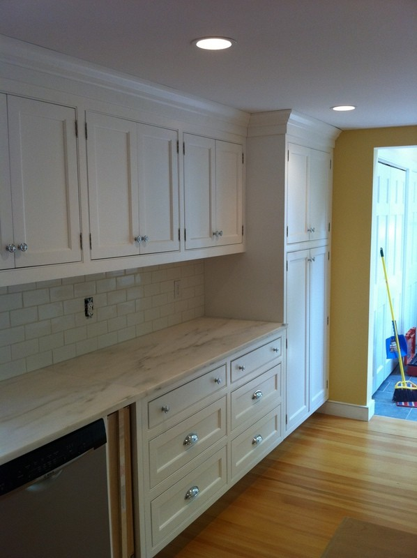 Traditional kitchen in a Litchfield, CT lake-front home