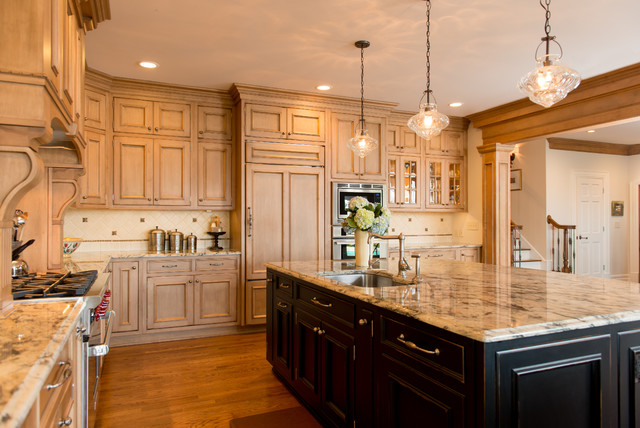 Inspiration For A Timeless Kitchen Remodel In Cleveland With Recessed Panel  Cabinets, Paneled Appliances