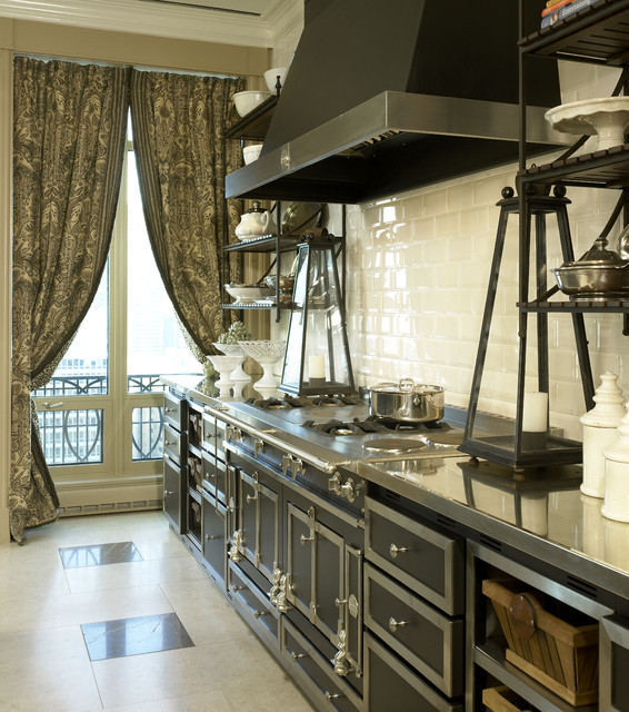 Lake Shore Drive Penthouse traditional kitchen