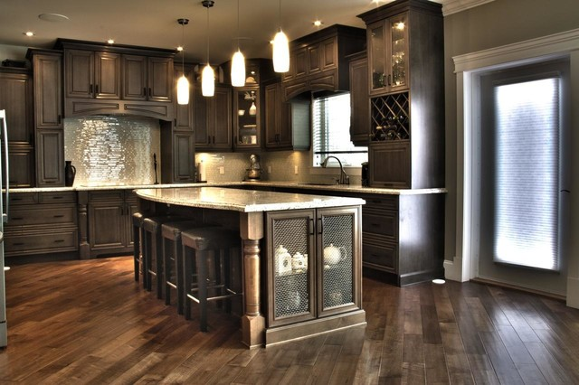 Traditional kitchen for Slate grey kitchen cabinets