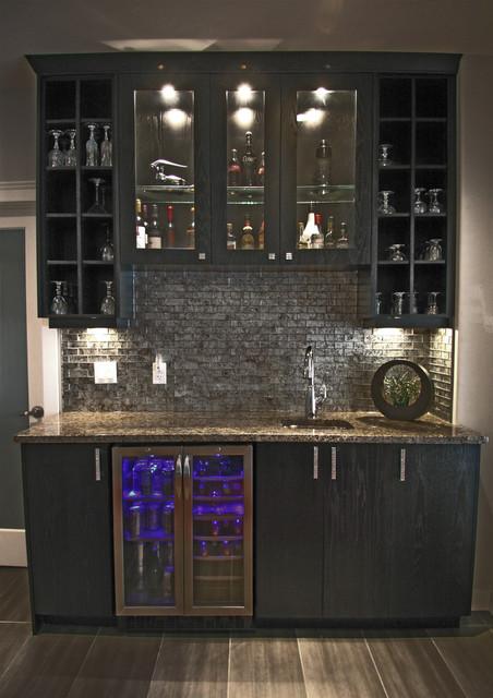 Elegant traditional-basement