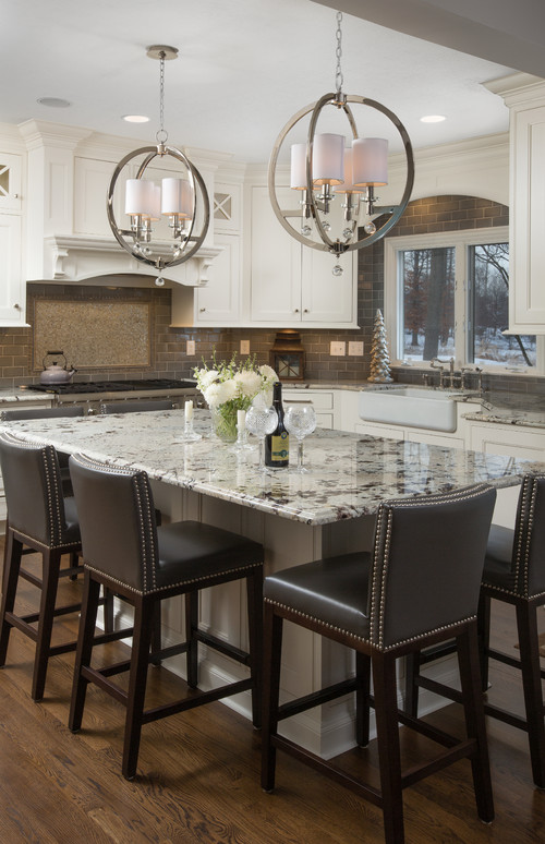 Delicatus Brown Granite Kitchen Countertop Design Ideas