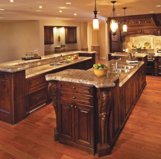 Old-World Kitchen Islands