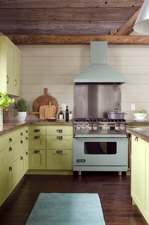contemporary kitchen Pretty in Pastels