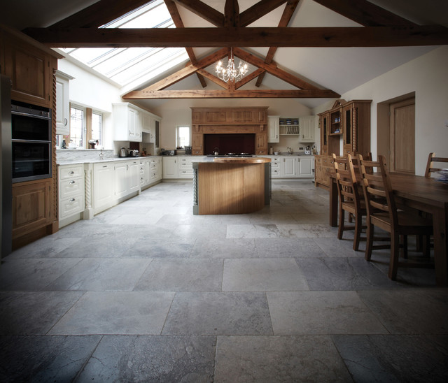 New Montpellier Limestone Floor Tiles Traditional Kitchen