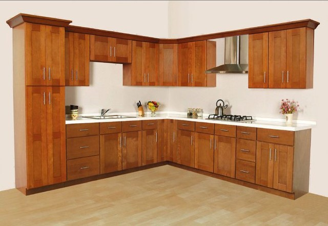 Cinnamon Shaker Kitchen Cabinets Home Design  Traditional  Kitchen