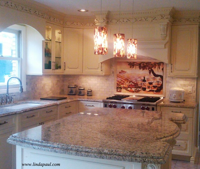 Kitchen Backsplash Neutral italian kitchen & backsplash - neutral colors inspired design