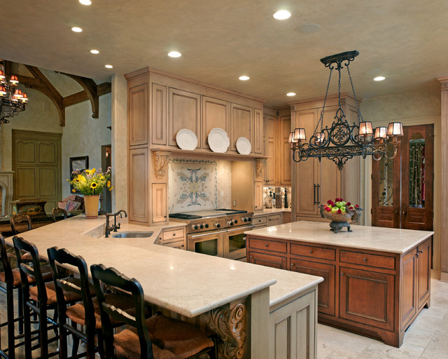 French Country Interior traditional kitchen