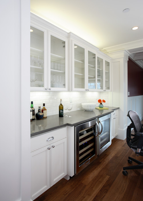 Is that a Wolf beverage center next to the wine fridge and what is – Kitchen Beverage Center