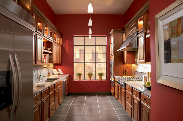 Grove Cherry Cabinets Traditional Kitchen Dc Metro
