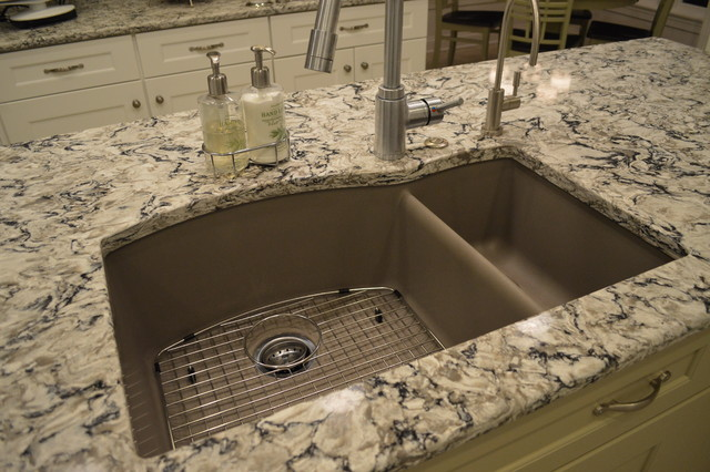 Brown Kitchen Sink Painted patterned kitchen traditional kitchen cleveland by painted patterned kitchen traditional kitchen workwithnaturefo