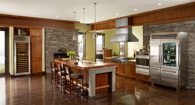 Sub-Zero and Wolf contemporary-kitchen