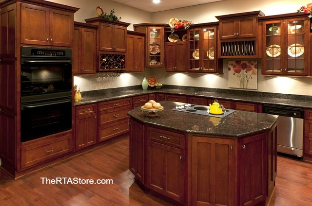 Shaker Cabernet Cabinets  Traditional  Kitchen Cabinetry  other