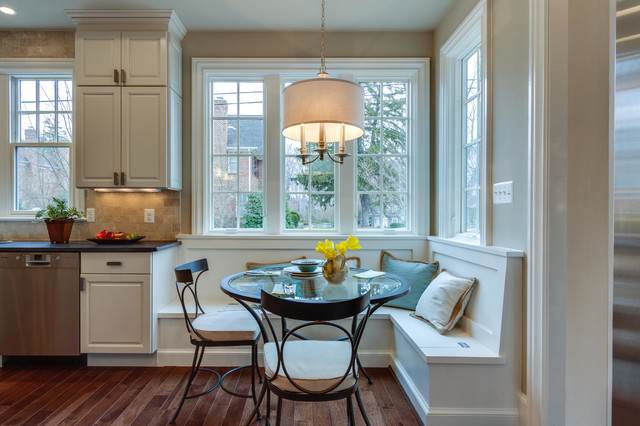 Built In Breakfast Nook Traditional Kitchen Dc Metro