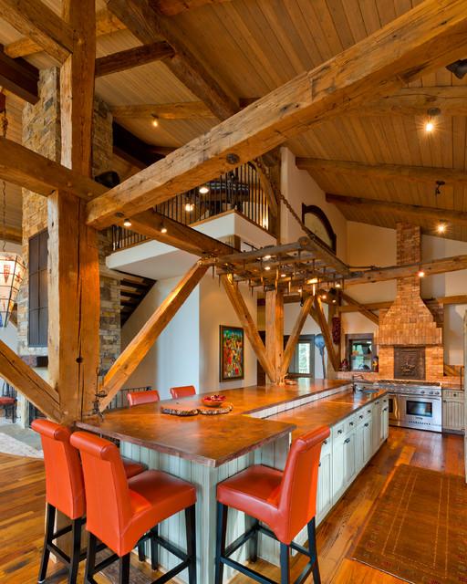 Telluride Barn traditional-kitchen