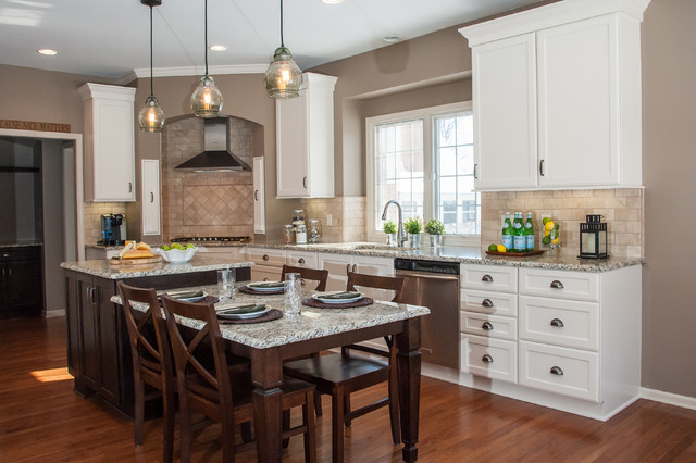 Traditional Kitchen With Arched Corner Hood Traditional Kitchen Other By Sharer Design