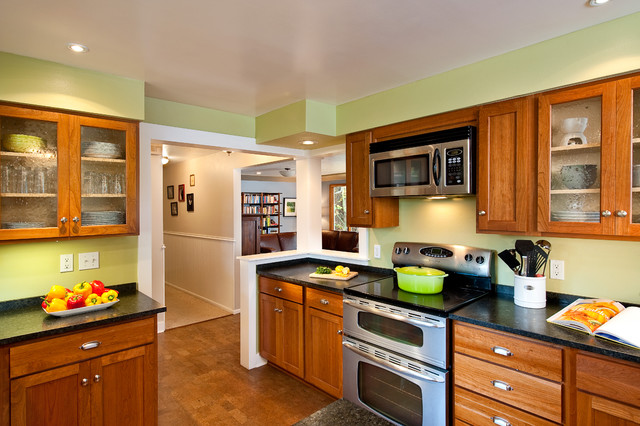 bathroom, kitchen, basement, built-ins, dining, northwest, contemporary traditional-kitchen