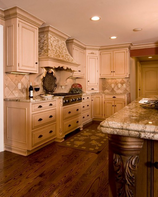 Traditional Kitchen with Glazed Cabinetry traditional kitchen