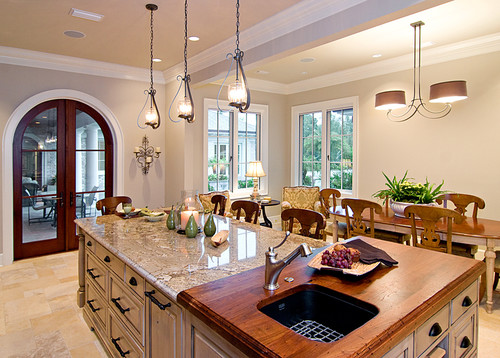 Kitchen Island With Butcher Block And Granite : Is the butcher block