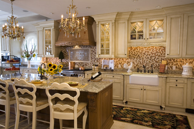 Traditional Kitchen Alluring With Traditional French Country Kitchen Images