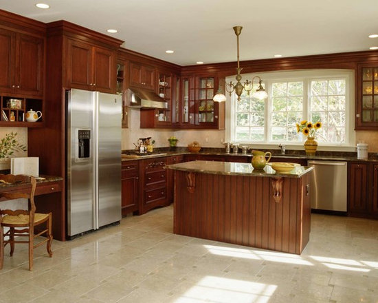 Mid Sized Traditional L Shaped Kitchen Design Ideas