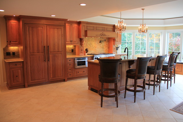 Pelham kitchen traditional kitchen boston by cyr for Kitchen and bath contractors