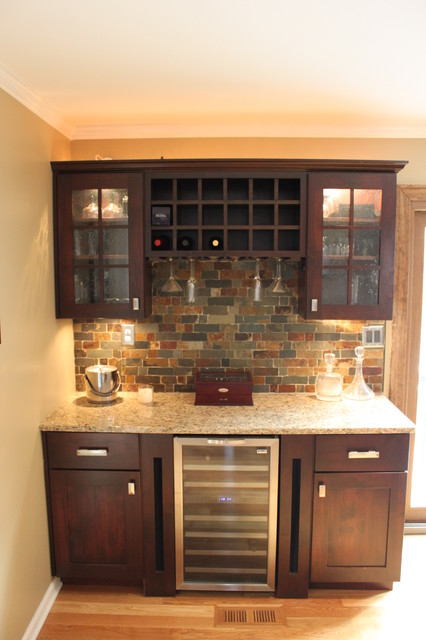 Traditional Maple Dry Bar Traditional Kitchen