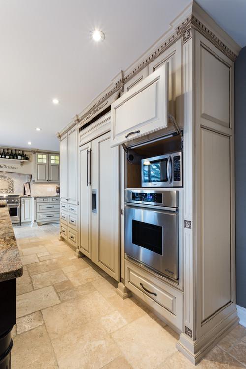 классические фасады в современном исполнении кухни