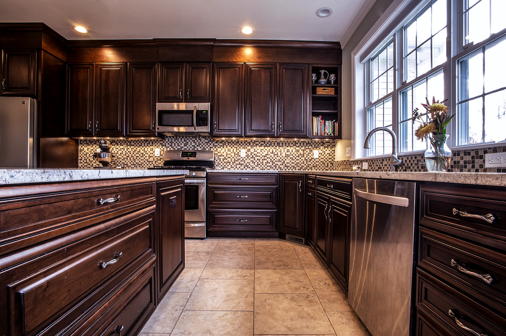 Traditional Open Concept Kitchen Bedford, NH ...