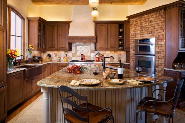 Traditional santa fe kitchen for Santa fe kitchen