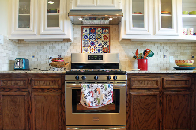 Traditional Spanish Kitchen Backsplash American Southwest Kitchen