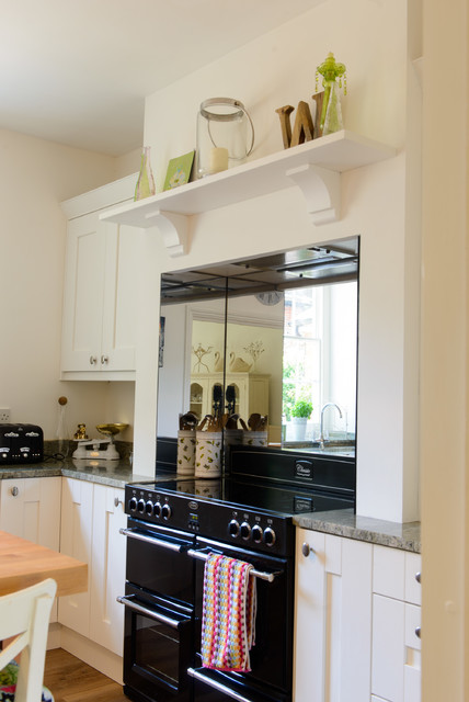 Traditional Styel Shelf And Corbels Sit Above Range Cooker Country Kitchen