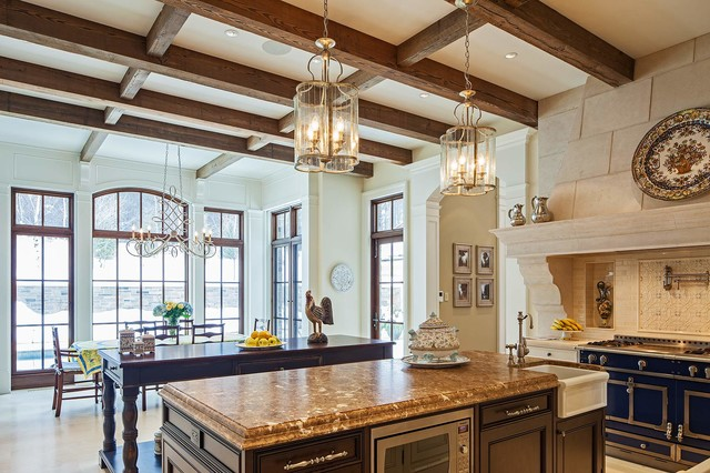 Traditional Tudor Style Home with French Interiors traditional-kitchen