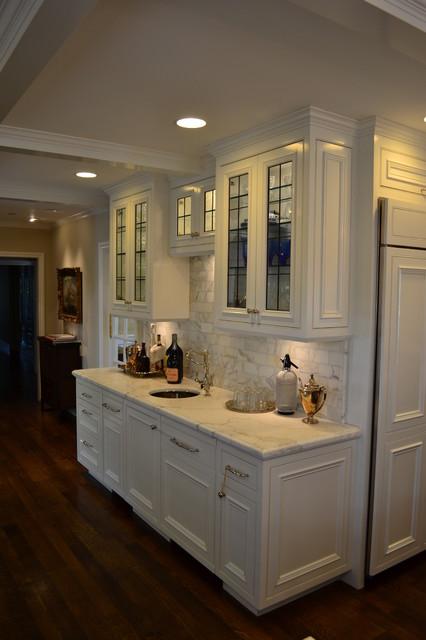 Traditional Tudor style house kitchen