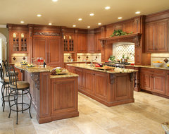 Traditional two islands in Franklin Lakes traditional kitchen