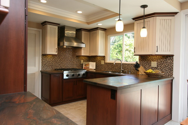 Traditional Two Tone Kitchen In Huntington Beach Ca