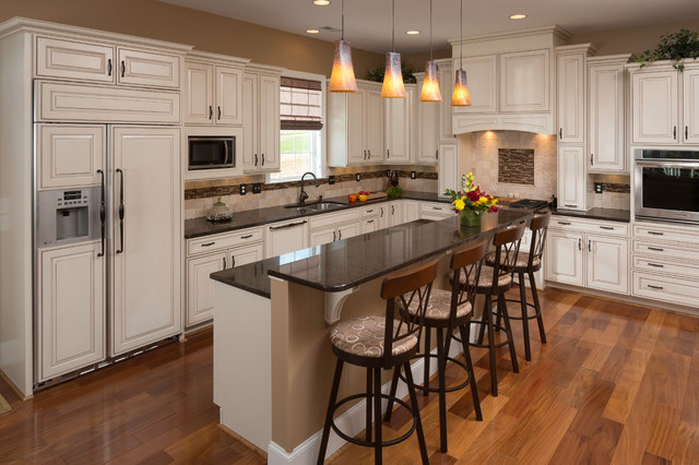 Traditional White Kitchen Remodel in Roanoke, VA ...