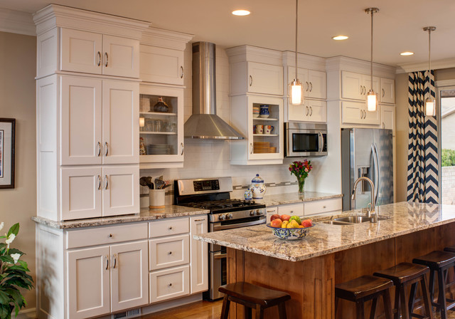 Traditional White Linen Kitchen Great Room Remodel