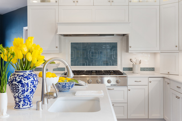 Traditional white transitional-kitchen