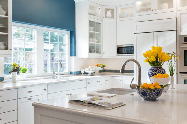 Traditional white traditional-kitchen