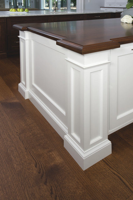 Kitchen Island Post traditional white/walnut island corner post - traditional