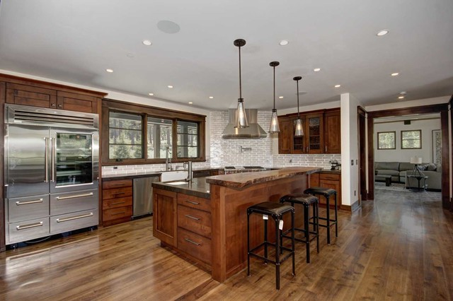 Trailside Builders Martis Camp Truckee California Rustic Kitchen Sacramento By Kitchen