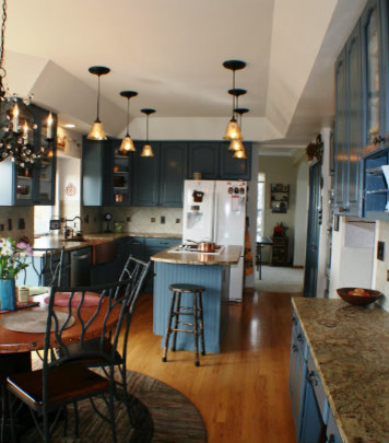 Transformed Painted Cabinetry Colorado Springs Kitchen