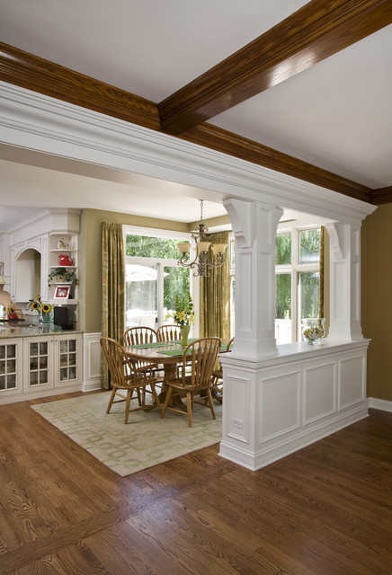 Transition From Family Room To Breakfast Roomtraditional Kitchen Chicago