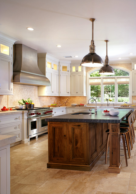 Transition in caldwell transitional kitchen new york for Caldwell kitchen cabinets
