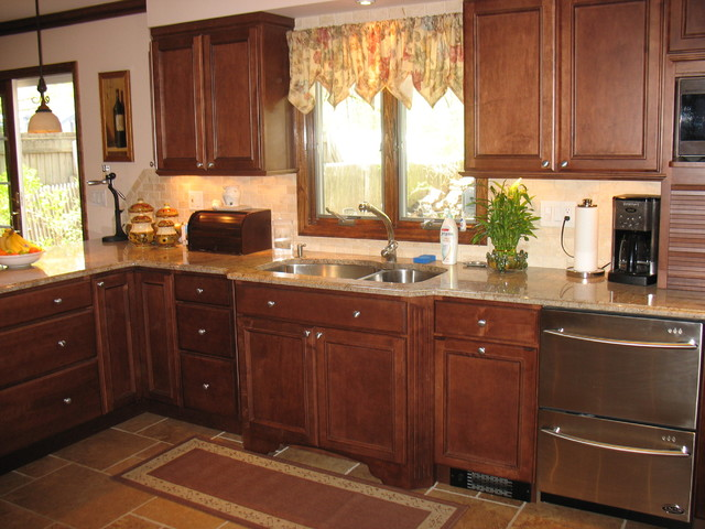 Transitional Bachelor Dad eclectic-kitchen