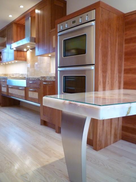 Transitional Cool modern-kitchen