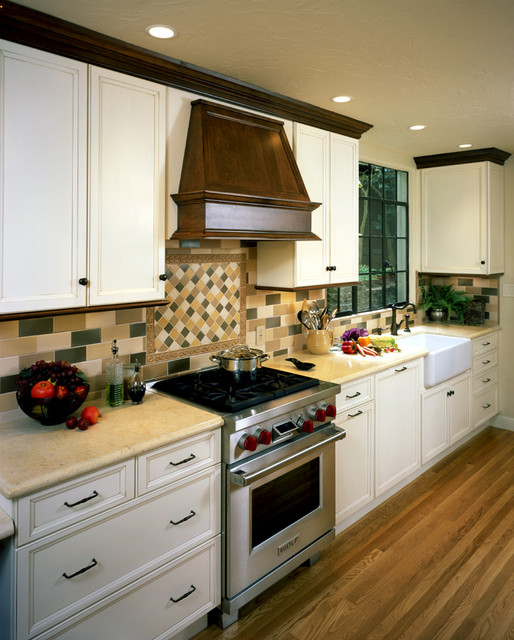 Mediterranean Kitchen Cabinets: Transitional Country Kitchen