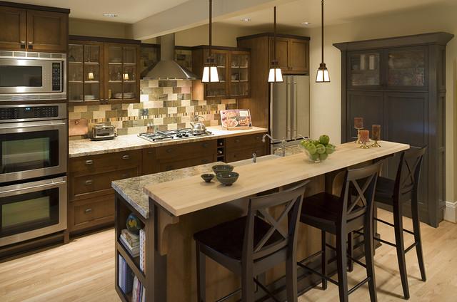 Transitional Craftsman Kitchen - Traditional - Kitchen - Portland ...